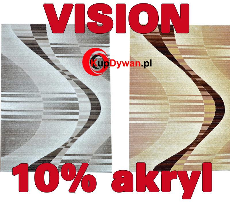 Dywan vision wykonany z przędzy akrylowej z nowoczenym wzorem