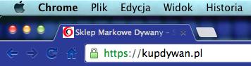 Sklep kupDywan.pl Bezpieczny SSL