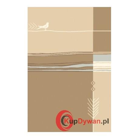 Dywan Agnella NATURAL R BIRD ciemny beż