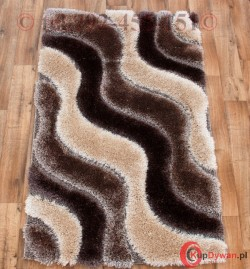 Dywan Soft 3D 2244A beige/brown