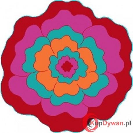 Dywan JUPPI kwiatek red