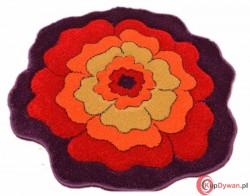 Dywan JUPPI kwiatek fiolet