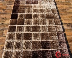 dywan SEHER 3D 2615 BROWN/BEIGE